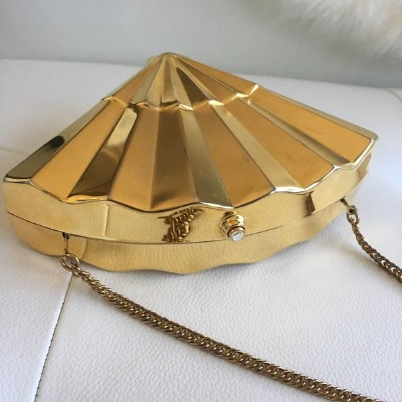 Reformation Handbags - Gold seashell clutch